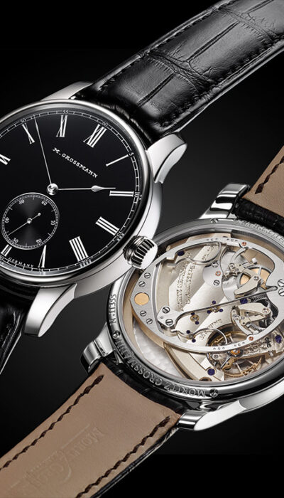 with shiny 'black-or' dial